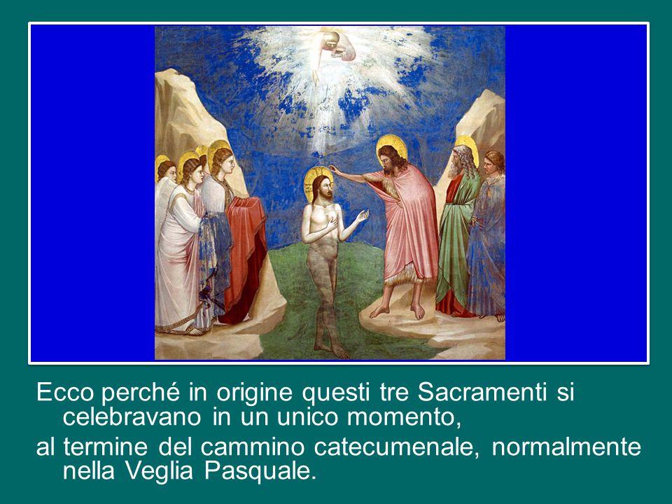 Questi due Sacramenti, insieme con l'Eucaristia, formano un unico evento salvifico, che si chiama — l'