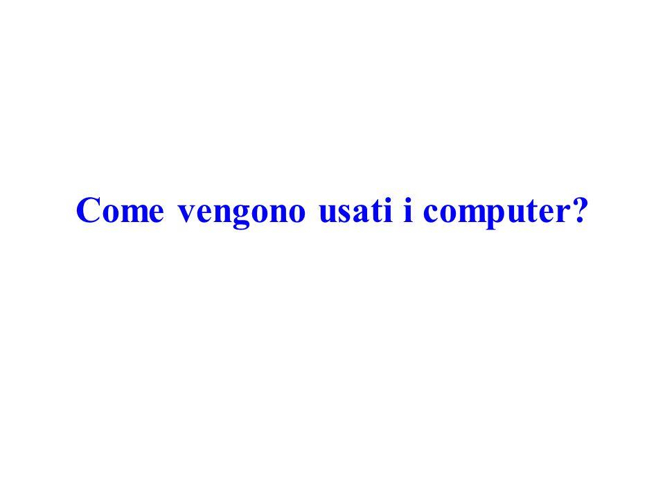 Come vengono usati i computer?