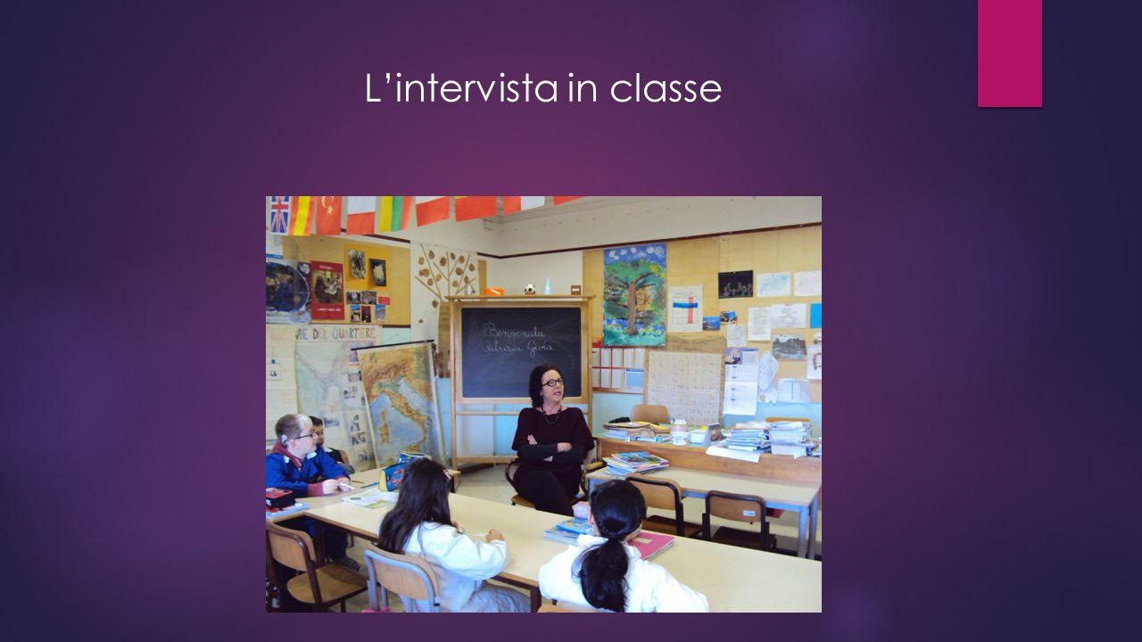 L'intervista in classe
