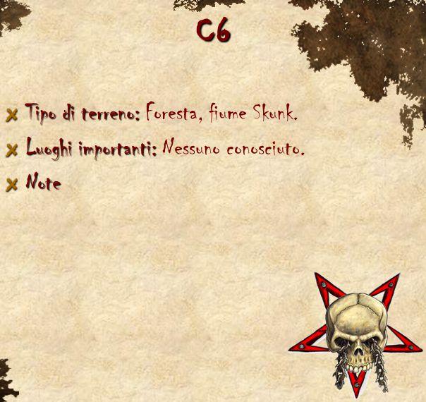 C6 Tipo di terreno: Tipo di terreno: Foresta, fiume Skunk. Luoghi importanti: Luoghi importanti: Nessuno conosciuto.Note