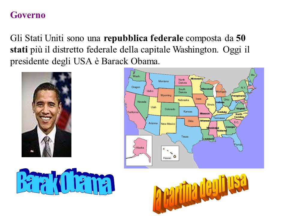 Governo Gli Stati Uniti sono una repubblica federale composta da 50 stati più il distretto federale della capitale Washington. Oggi il presidente degl