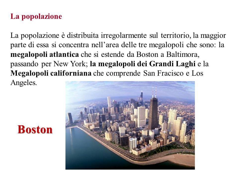 La popolazione La popolazione è distribuita irregolarmente sul territorio, la maggior parte di essa si concentra nell'area delle tre megalopoli che so