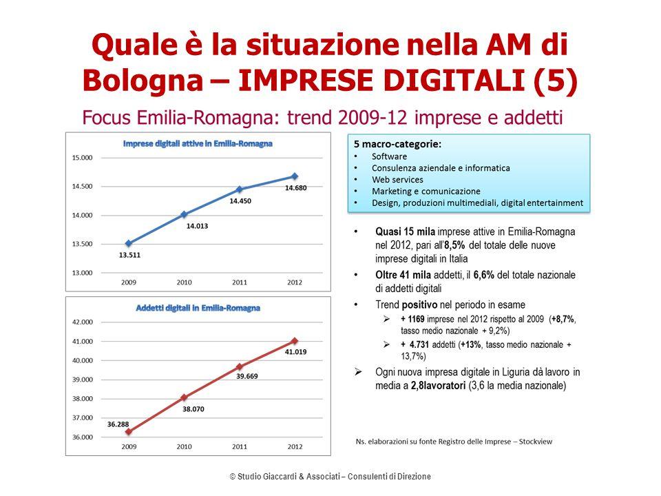 Quale è la situazione nella AM di Bologna – IMPRESE DIGITALI (5) © Studio Giaccardi & Associati – Consulenti di Direzione 9