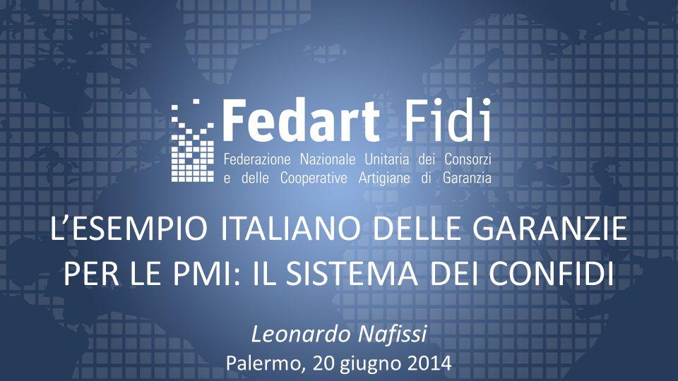 L'ESEMPIO ITALIANO DELLE GARANZIE PER LE PMI: IL SISTEMA DEI CONFIDI Leonardo Nafissi Palermo, 20 giugno 2014