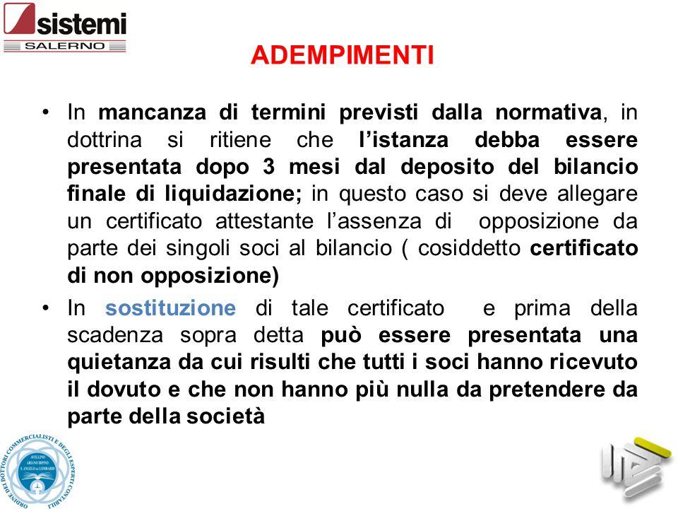 Il liquidatore della società può fare opposizione alla dichiarazione di fallimento (App.
