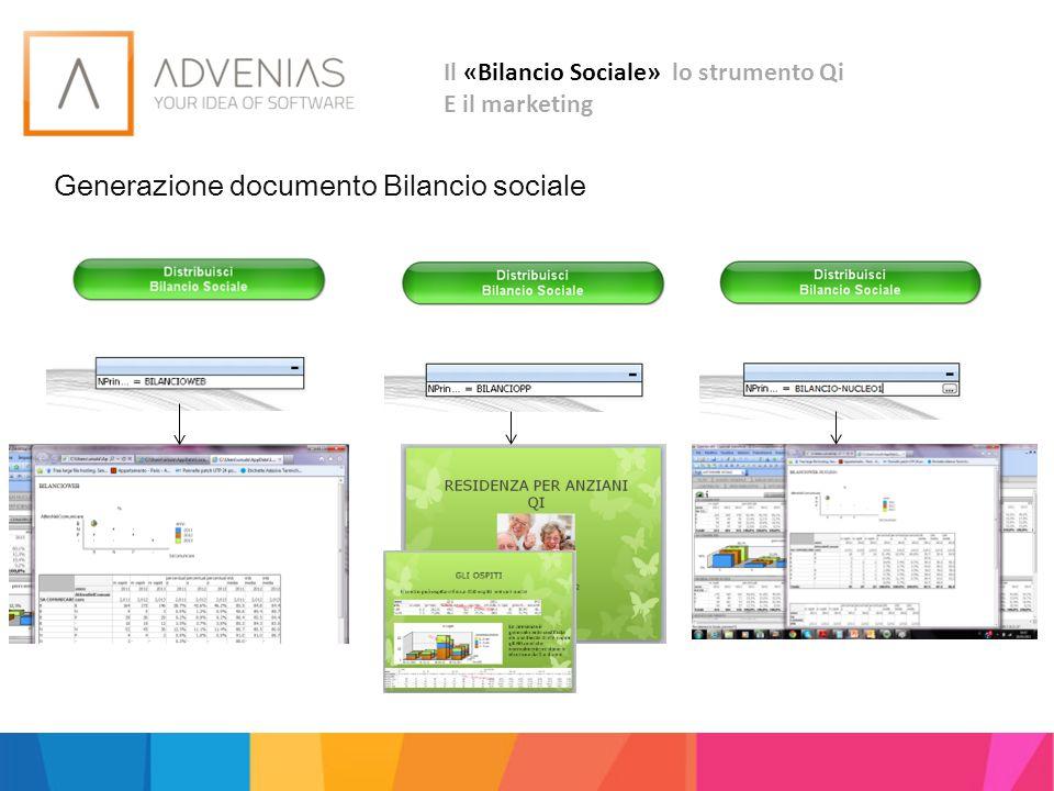 Generazione documento Bilancio sociale Il «Bilancio Sociale» lo strumento Qi E il marketing