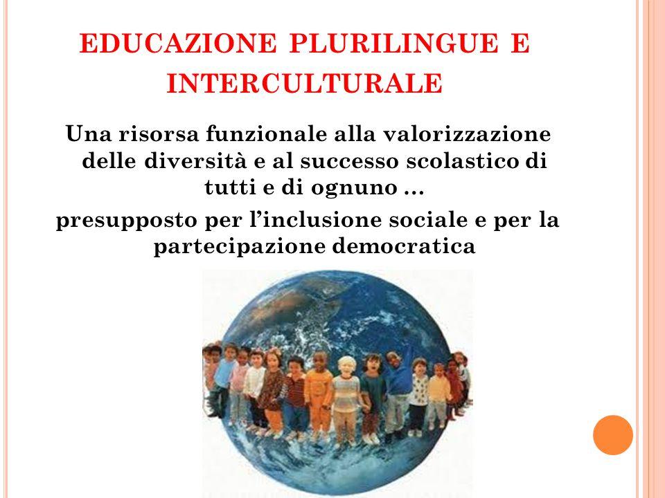 EDUCAZIONE PLURILINGUE E INTERCULTURALE Una risorsa funzionale alla valorizzazione delle diversità e al successo scolastico di tutti e di ognuno … pre