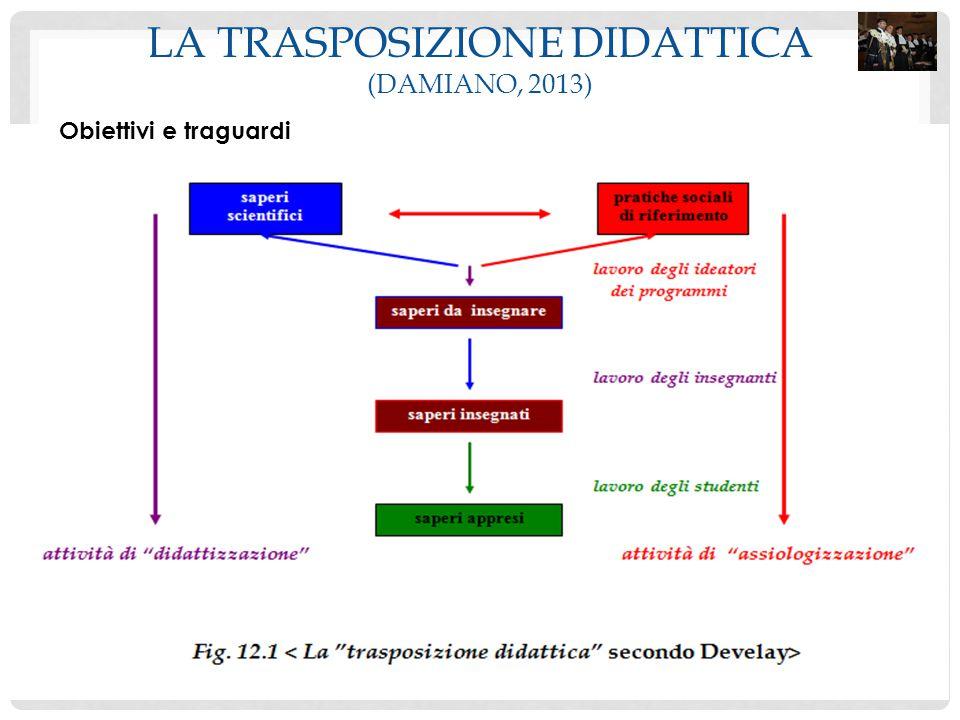 LA TRASPOSIZIONE DIDATTICA (DAMIANO, 2013) Obiettivi e traguardi