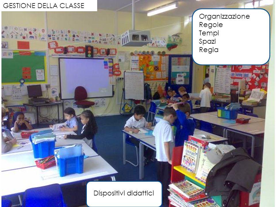 GESTIONE DELLA CLASSE Organizzazione Regole Tempi Spazi Regia Dispositivi didattici