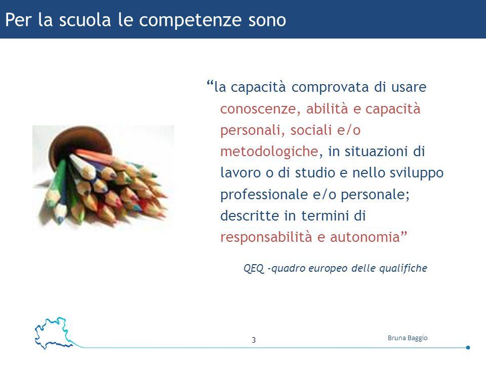 """3 Bruna Baggio """" la capacità comprovata di usare conoscenze, abilità e capacità personali, sociali e/o metodologiche, in situazioni di lavoro o di stu"""