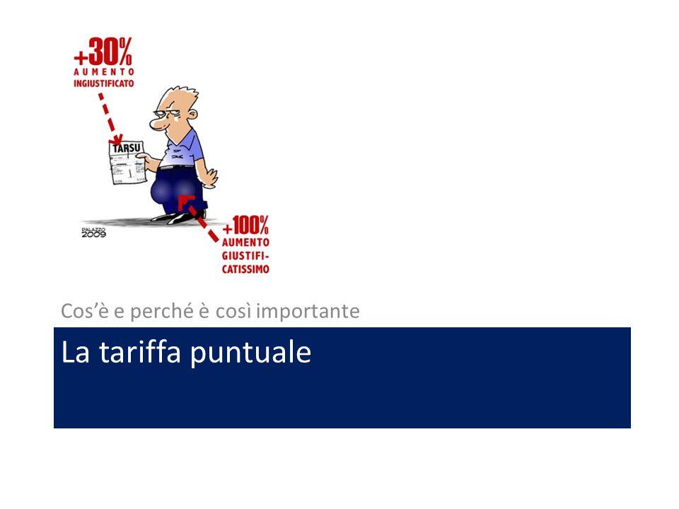 La tariffa puntuale Cos'è e perché è così importante