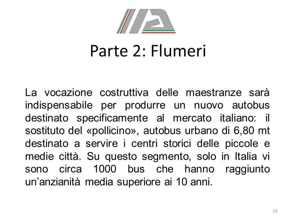 Parte 2: Flumeri La vocazione costruttiva delle maestranze sarà indispensabile per produrre un nuovo autobus destinato specificamente al mercato itali