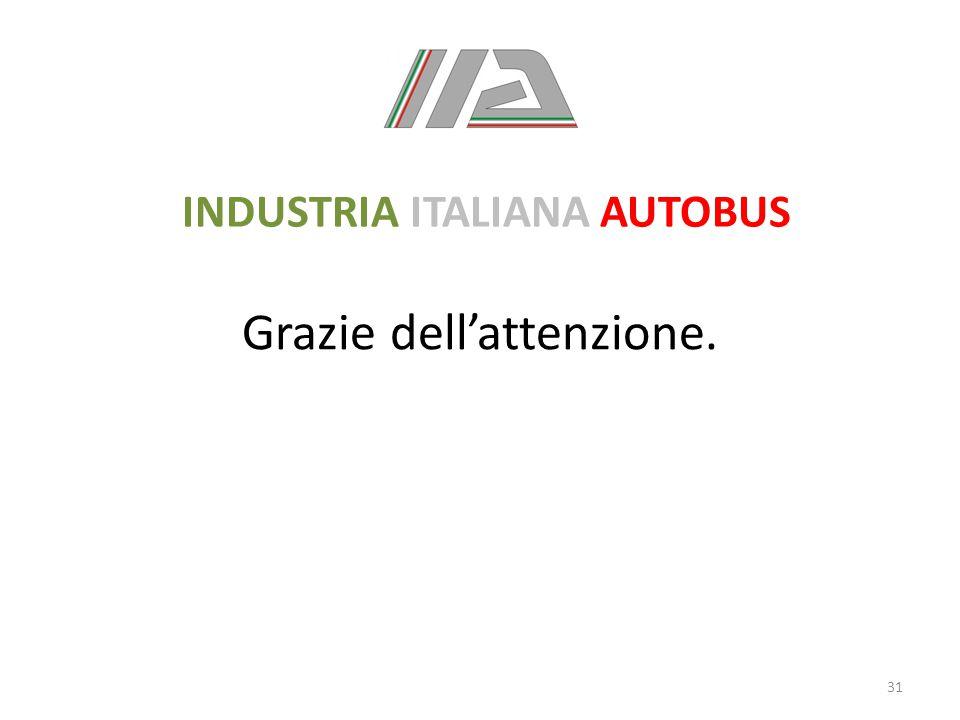 Grazie dell'attenzione. 31 INDUSTRIA ITALIANA AUTOBUS
