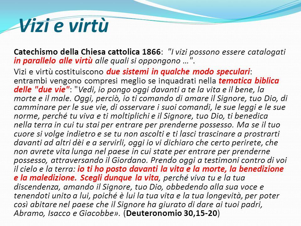 Vizi e virtù Catechismo della Chiesa cattolica 1866: