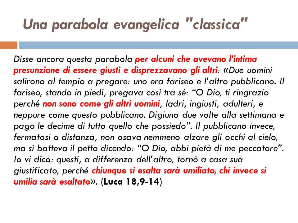 Una parabola evangelica