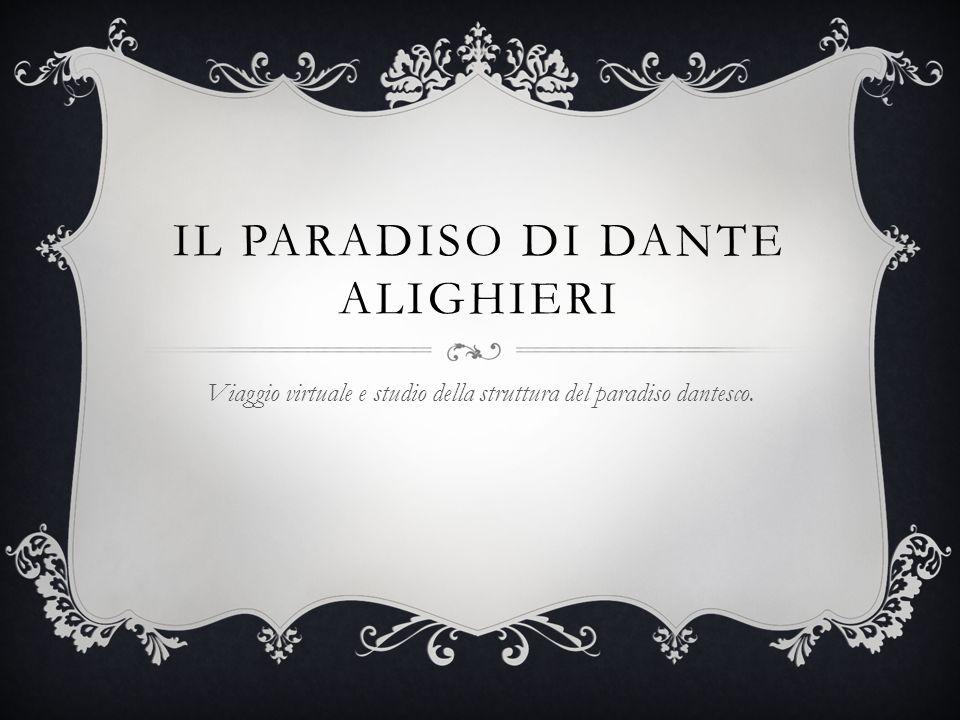 IL PARADISO DI DANTE ALIGHIERI Viaggio virtuale e studio della struttura del paradiso dantesco.