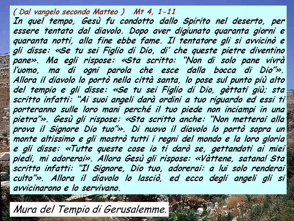 Canto al vangelo Mt 4, 4b Non di solo pane vivrà l'uomo, ma di ogni parola che esce dalla bocca di Dio.