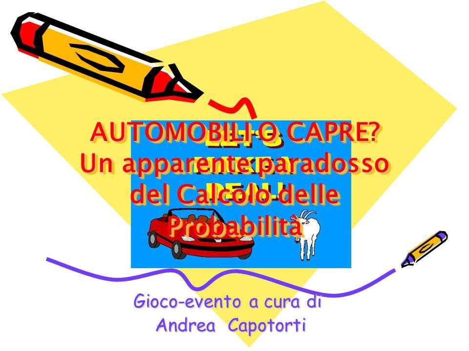Gioco-evento a cura di Andrea Capotorti Andrea Capotorti AUTOMOBILI O CAPRE.