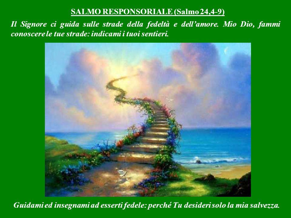 SALMO RESPONSORIALE (Salmo 24,4-9) Il Signore ci guida sulle strade della fedeltà e dell'amore.