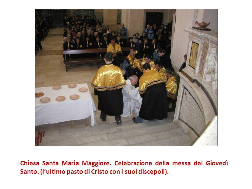 Chiesa Santa Maria Maggiore.Celebrazione della messa del Giovedì Santo.