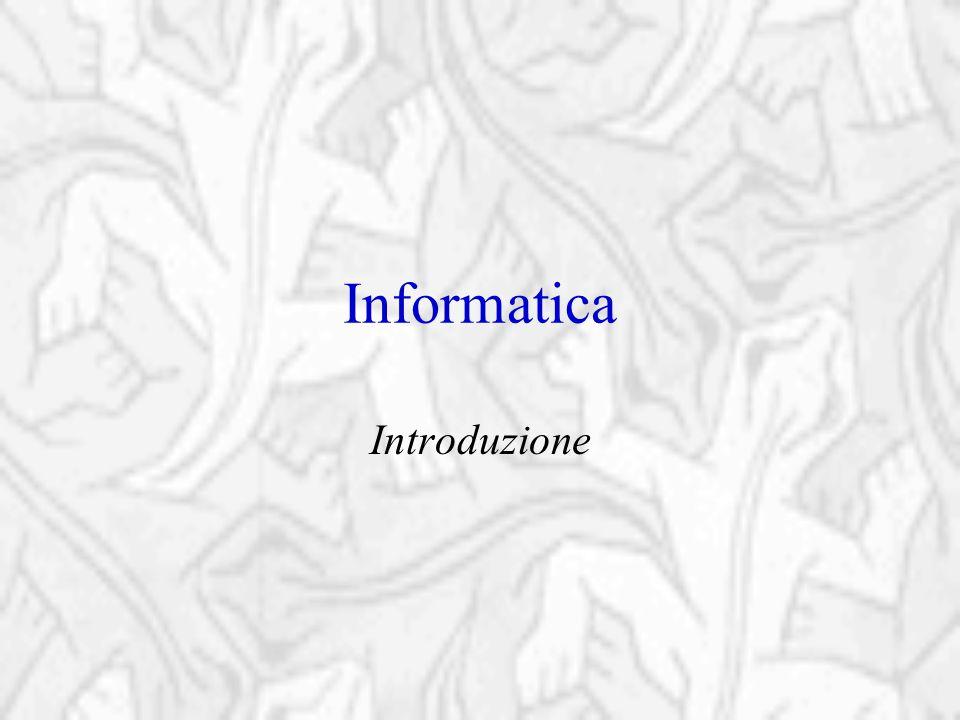 = INFORMAZIONE +AUTOMATICA L'INFORMAZIONE è tutto ciò che possiede un significato per l'uomo e che viene conservato o comunicato in vista di una utilità pratica, immediata o futura Informatica Elaborazione dei dati senza interventi esterni dopo che vi sono stati un opportuna preparazione e avviamento È la scienza che si occupa dei processi e delle tecnologie che consentono il trattamento (creazione, raccolta, elaborazione, memorizzazione e comunicazione) automatico delle informazioni, nonché della progettazione degli strumenti che concretizzano tali funzioni (elaboratori elettronici).