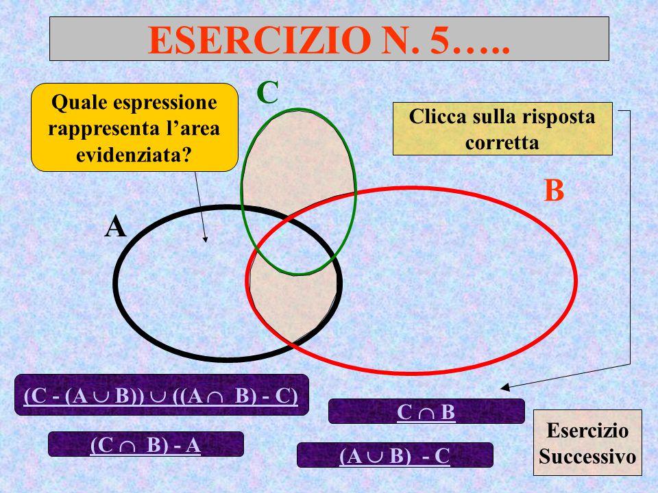 ESERCIZIO N.5….. A B Quale espressione rappresenta l'area evidenziata.