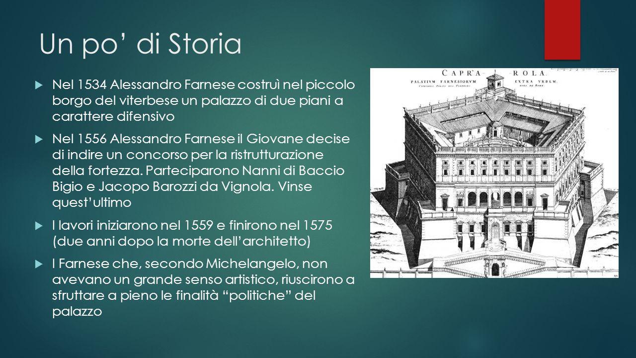 Un po' di Storia  Nel 1534 Alessandro Farnese costruì nel piccolo borgo del viterbese un palazzo di due piani a carattere difensivo  Nel 1556 Alessa