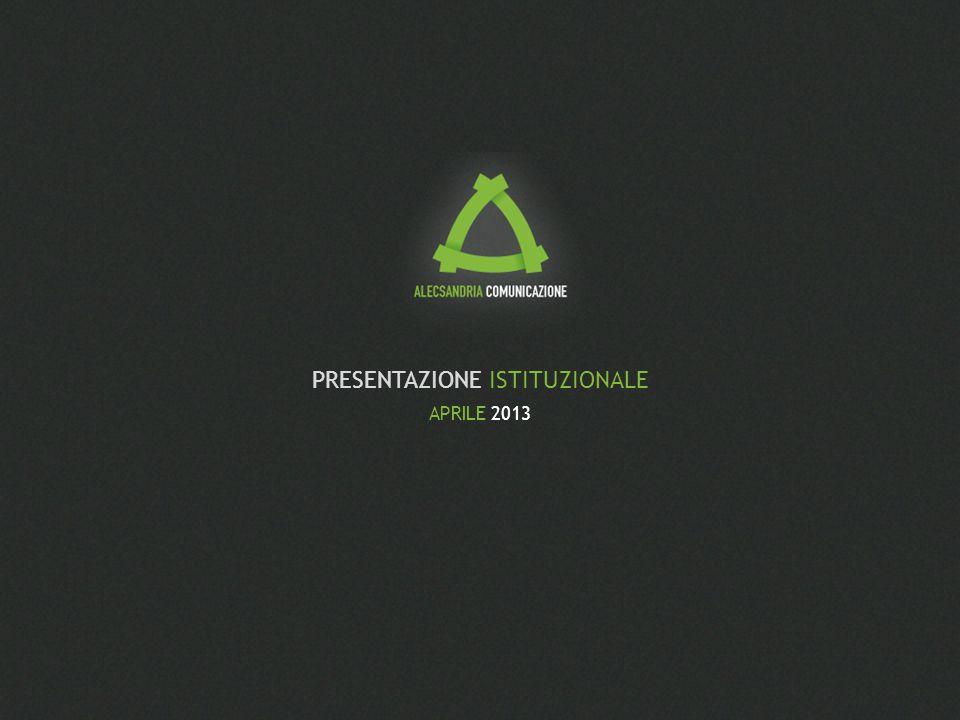 2 Alecsandria Comunicazione – Presentazione Istituzionale PELLE E ANIMA Dal 1998 Alecsandria ha cambiato pelle e anima.
