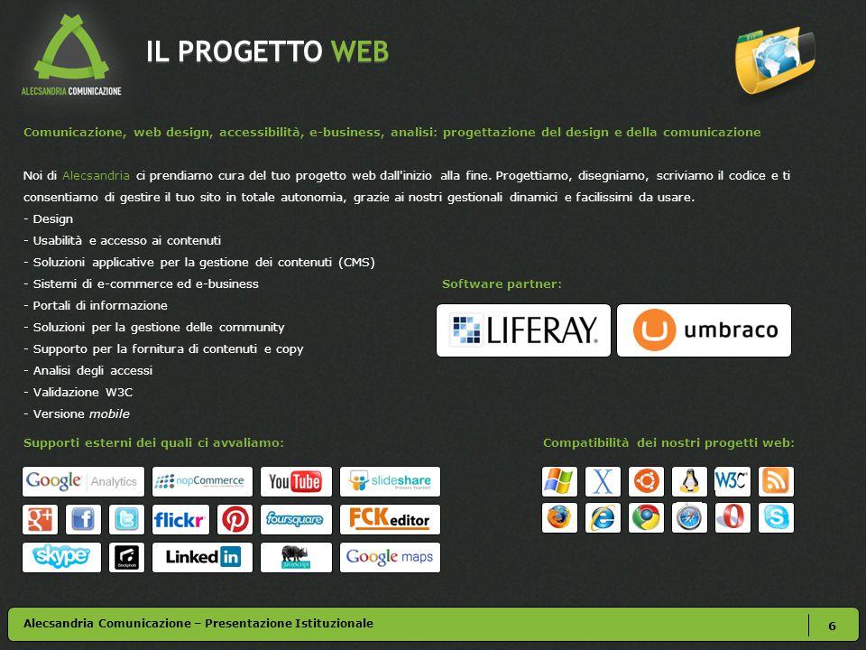 ALECSANDRIA – CASI DI SUCCESSO 26 Alecsandria Comunicazione – Presentazione Istituzionale Enel.it – Enel.com – Enel Sole – Enel Green Power Cliente: Enel S.p.A.
