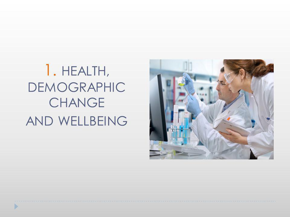 1. HEALTH, DEMOGRAPHIC CHANGE AND WELLBEING