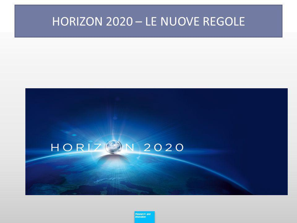 Research and Innovation Research and Innovation HORIZON 2020 – LE NUOVE REGOLE