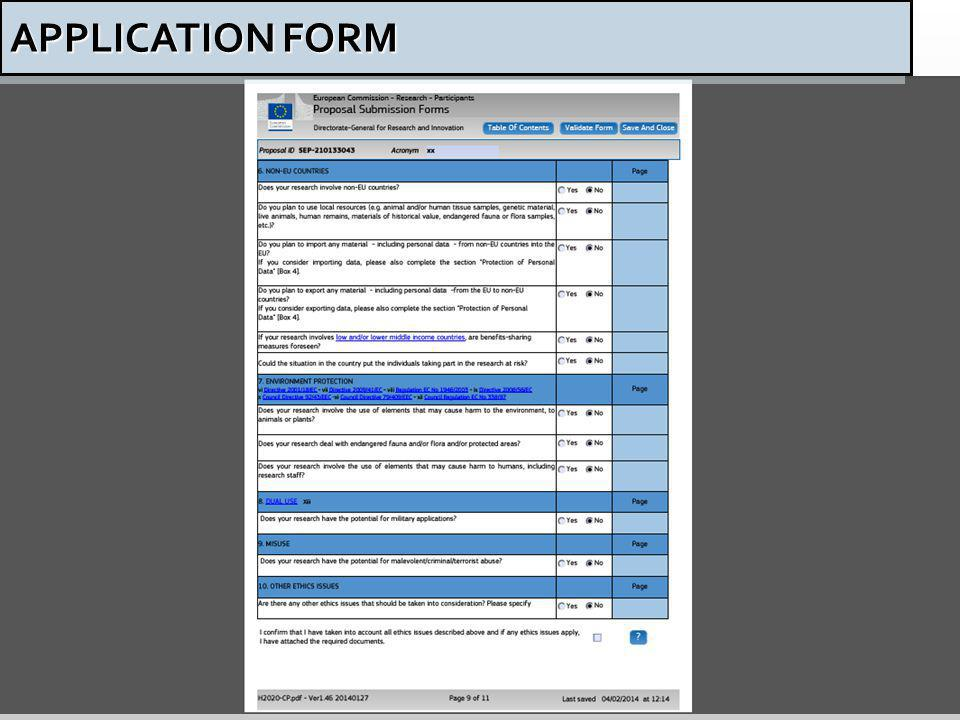 53 APPLICATION FORM