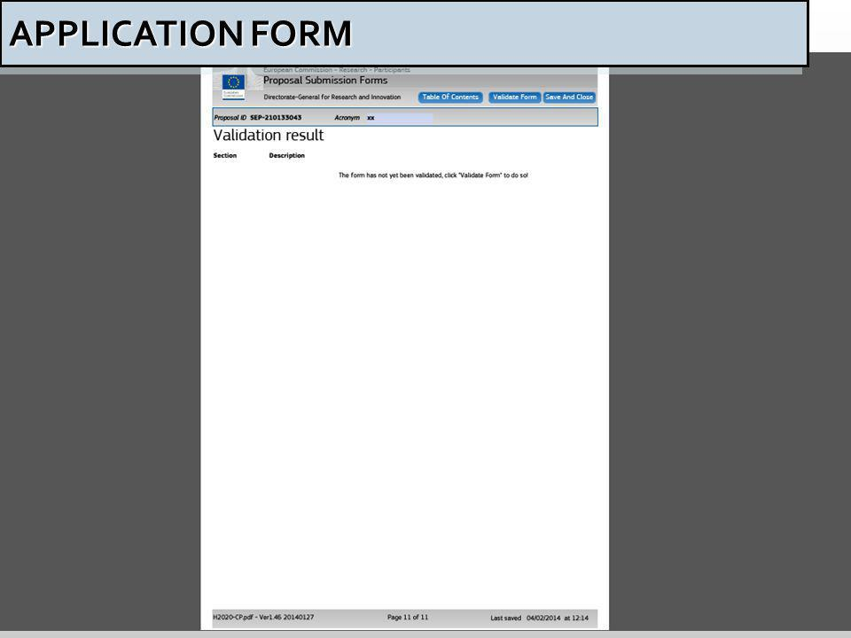 55 APPLICATION FORM