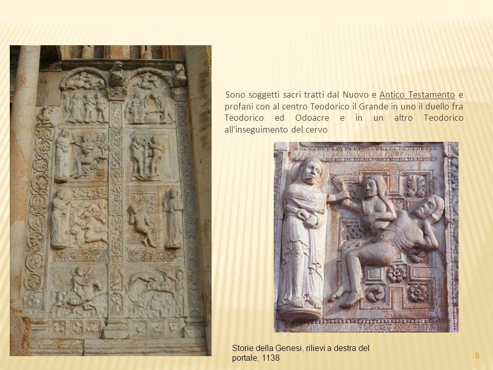 Sono soggetti sacri tratti dal Nuovo e Antico Testamento e profani con al centro Teodorico il Grande in uno il duello fra Teodorico ed Odoacre e in un
