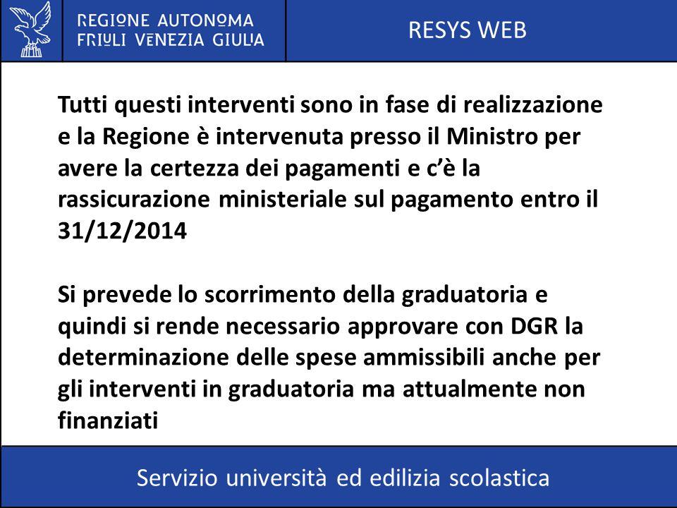 RESYS WEB Servizio università ed edilizia scolastica Il decreto legge 24 giugno 2014 n.