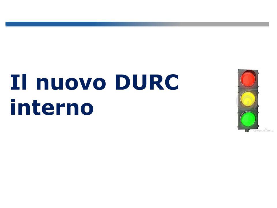 Il nuovo DURC interno