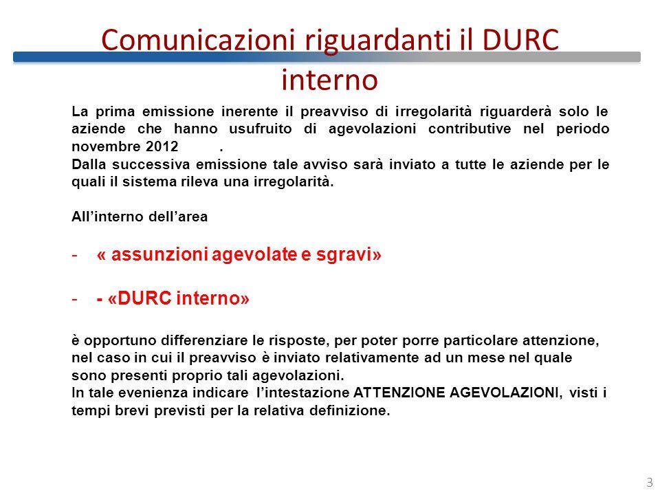 Percorso da seguire da parte delle aziende che riceveranno la PEC per anomalie connesse al DURC interno 4