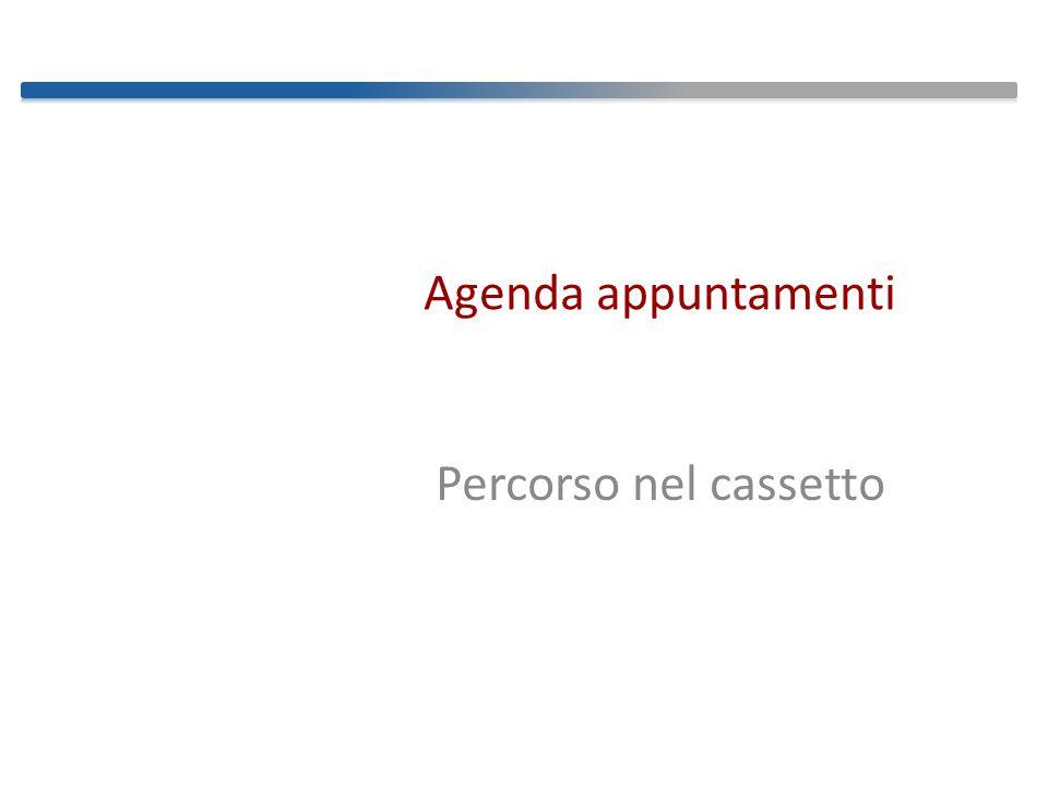 Agenda appuntamenti Percorso nel cassetto