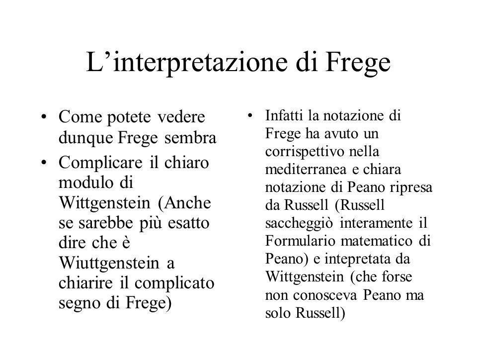 Tuttavia Frege è sempre grande… SI dice che anche gli errori dei grandi sono errori interessanti.