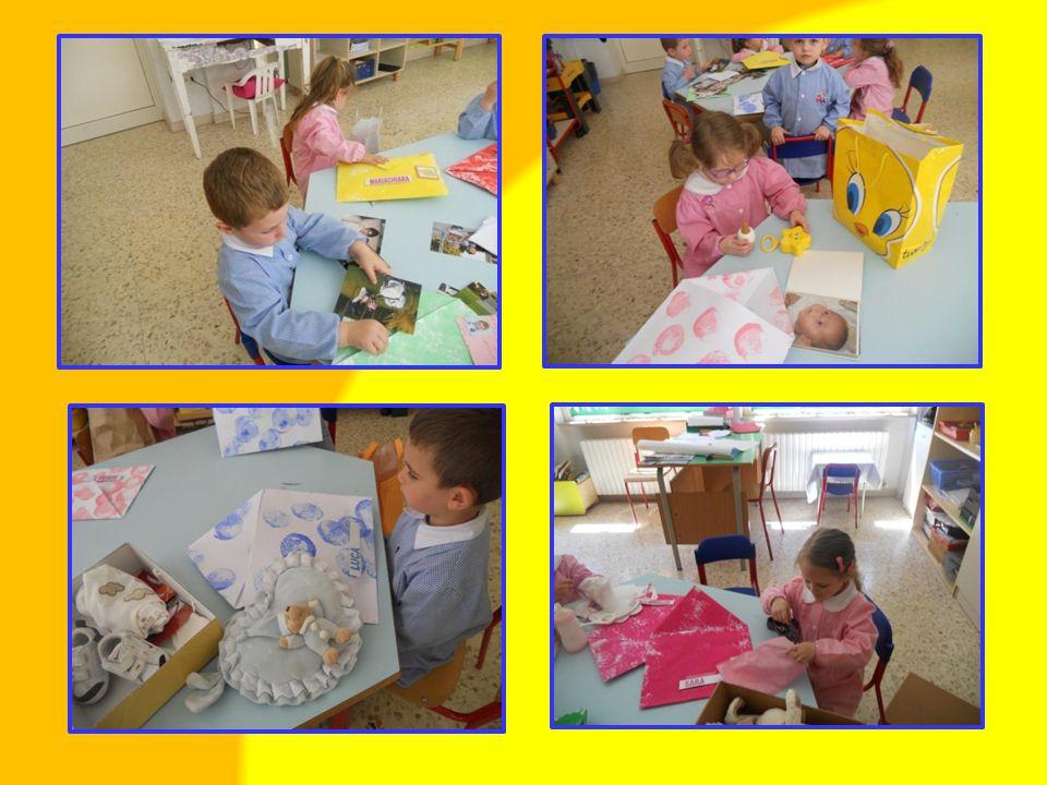 Esplorazione ed osservazione degli oggetti da selezionare e inserire nella busta.