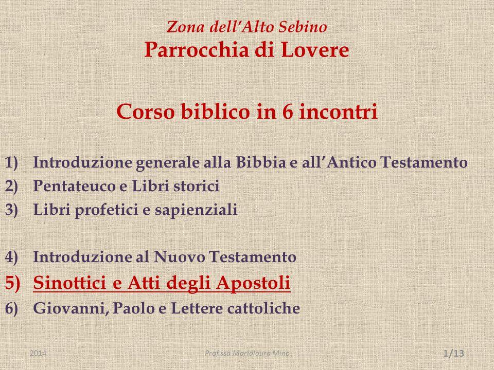 L'opera lucana – Vangelo e Atti degli apostoli - segue  La struttura del Vangelo.