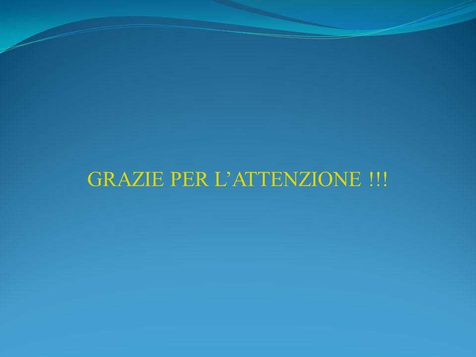 GRAZIE PER L'ATTENZIONE !!!