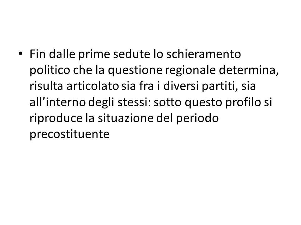 Roberto Segatori Le debolezze identitarie del regionalismo italiano Il passaggio istituzionale che stanno attualmente attraversando le Regioni italiane è sicuramente il più importante nei 150 di storia nazionale.
