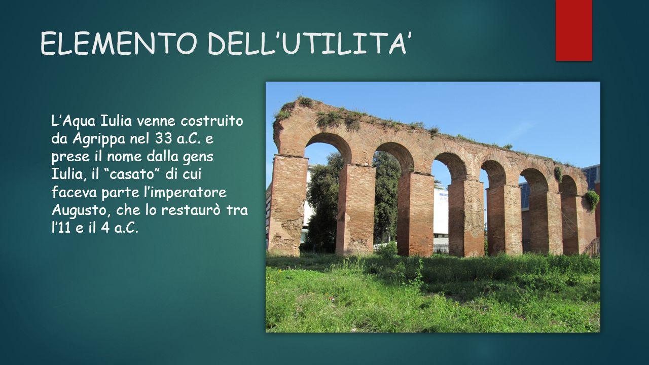 PERCORSO DELL'AQUA IULIA Raccoglieva l'acqua da sorgenti presso l'attuale ponte degli Squarciarelli , nel comune di Grottaferrata.