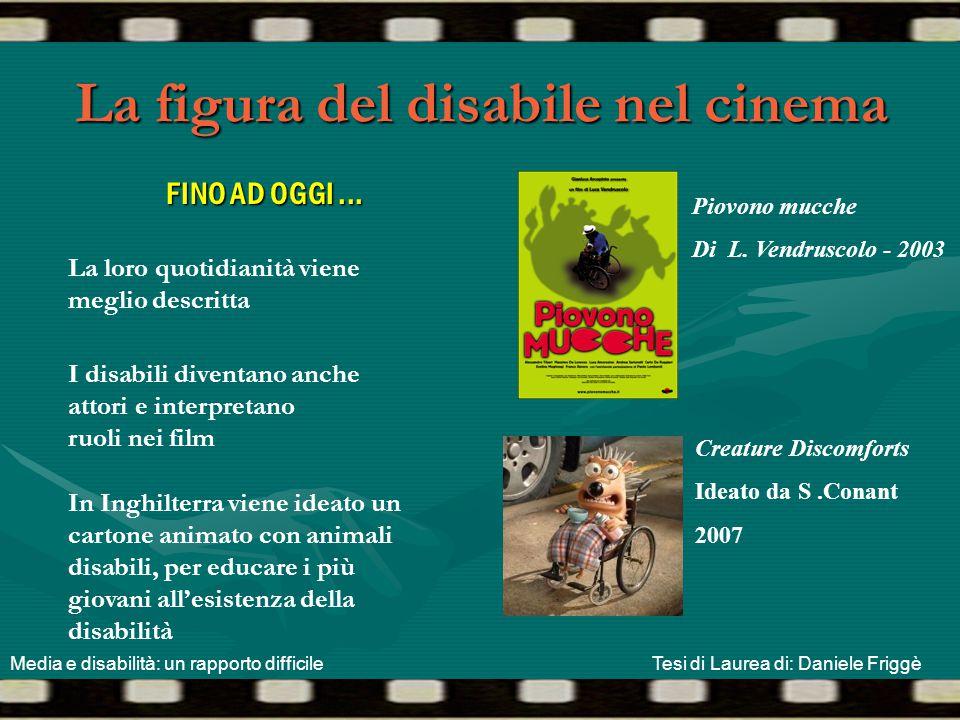 La figura del disabile nel cinema FINO AD OGGI... I disabili diventano anche attori e interpretano ruoli nei film La loro quotidianità viene meglio de