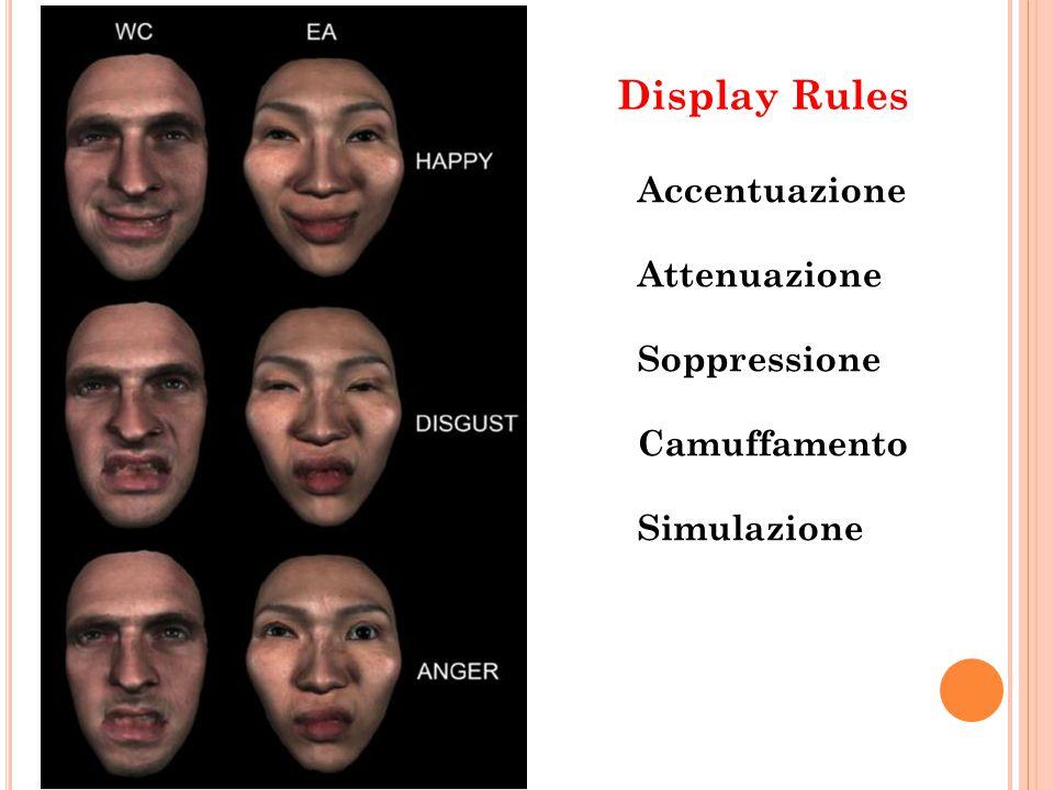 Accentuazione Attenuazione Soppressione Camuffamento Simulazione Display Rules