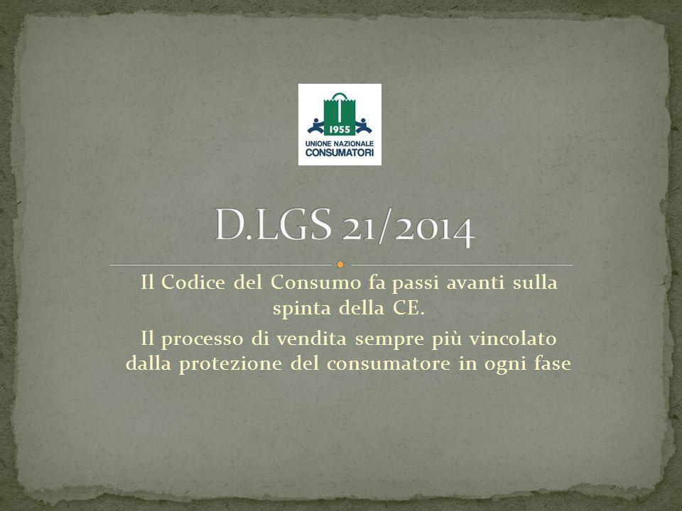 Il Codice del Consumo fa passi avanti sulla spinta della CE. Il processo di vendita sempre più vincolato dalla protezione del consumatore in ogni fase