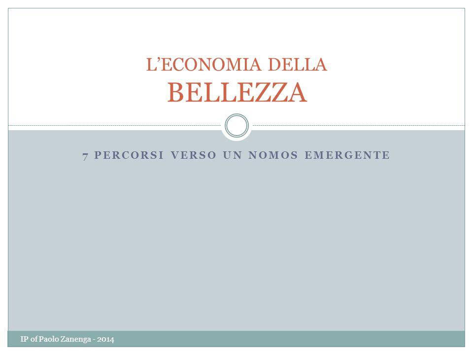 7 PERCORSI VERSO UN NOMOS EMERGENTE L'ECONOMIA DELLA BELLEZZA IP of Paolo Zanenga - 2014