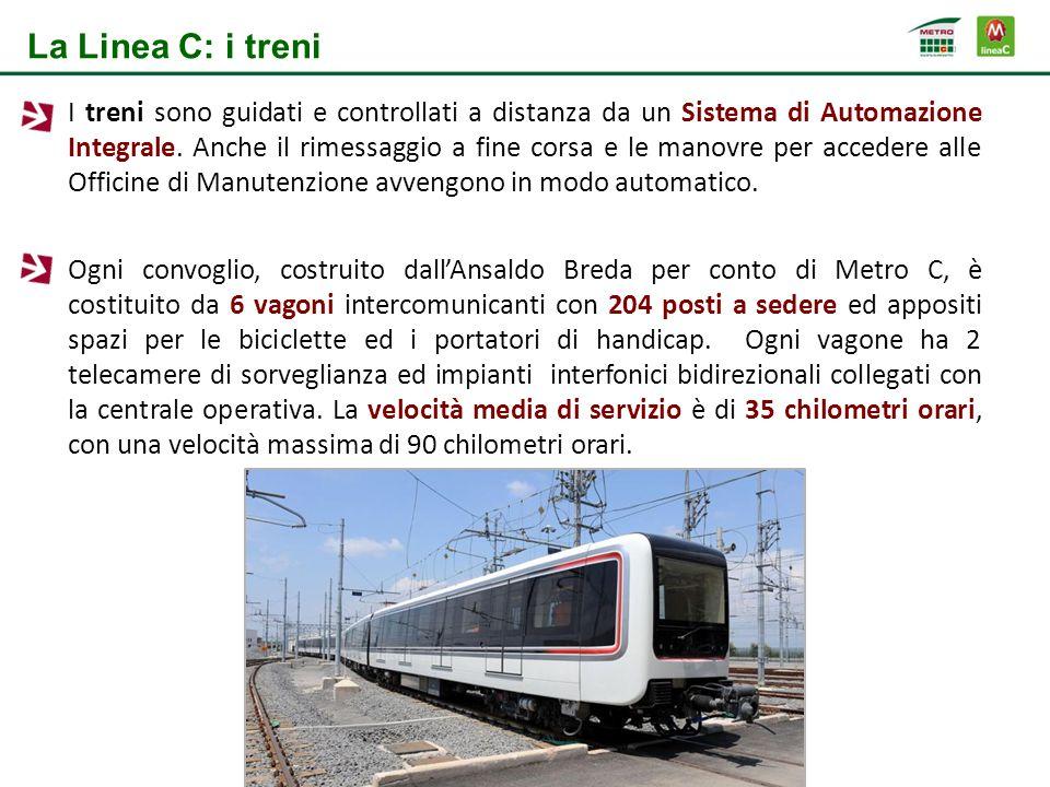 I treni sono guidati e controllati a distanza da un Sistema di Automazione Integrale. Anche il rimessaggio a fine corsa e le manovre per accedere alle