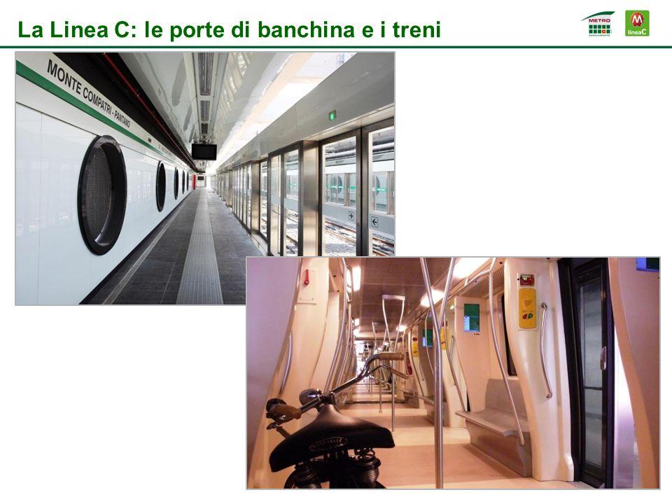 La Linea C: le porte di banchina e i treni